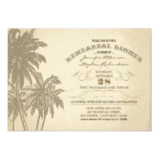invitaciones de la cena del ensayo de las palmas invitación 12,7 x 17,8 cm