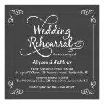Invitaciones de la cena del ensayo del boda de la  invitacion personalizada