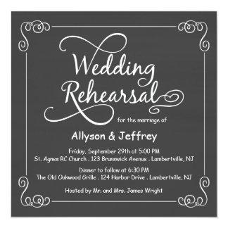 """Invitaciones de la cena del ensayo del boda de la invitación 5.25"""" x 5.25"""""""
