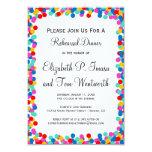 Invitaciones de la cena del ensayo del boda del comunicado personalizado