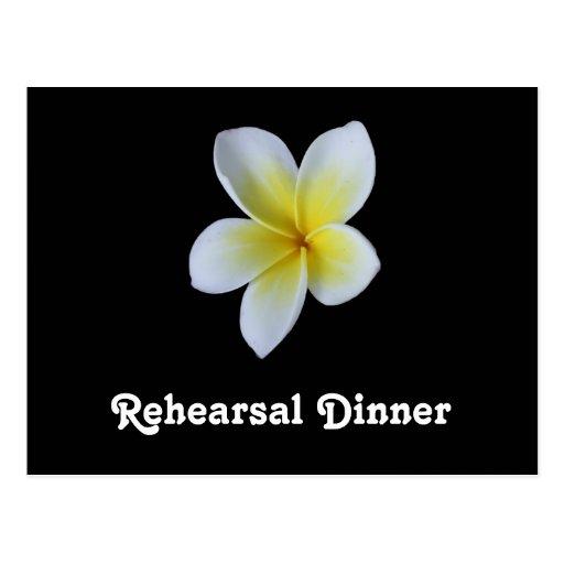 Invitaciones de la cena del ensayo del boda del Fr Tarjetas Postales