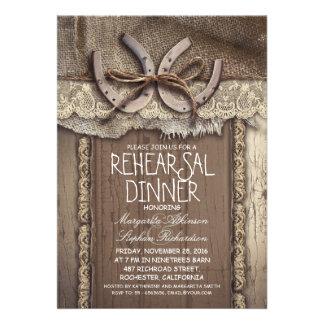invitaciones de la cena del ensayo del país del vi