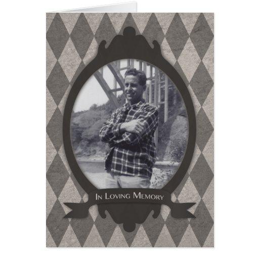 invitaciones de la ceremonia conmemorativa tarjeta pequeña