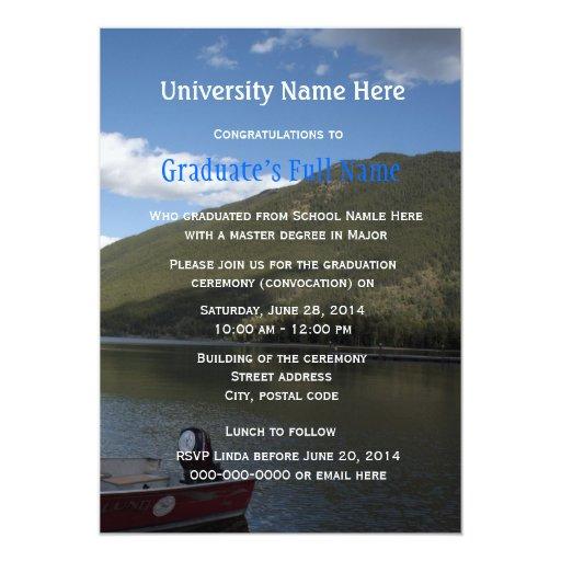 Invitaciones de la ceremonia de graduación invitacion personalizada
