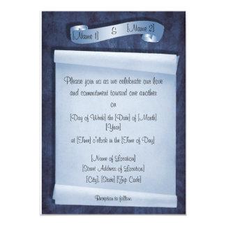 Invitaciones de la ceremonia del compromiso invitación 12,7 x 17,8 cm