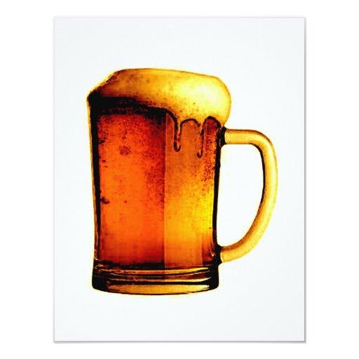 Invitaciones de la cerveza - la cerveza invita invitación 10,8 x 13,9 cm