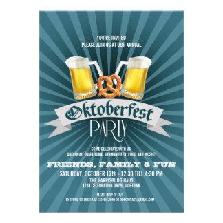 Invitaciones de la cerveza y del fiesta de Oktober Comunicados