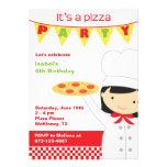 Invitaciones de la chica marchosa de la pizza