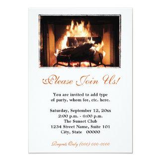 Invitaciones de la chimenea invitación 12,7 x 17,8 cm