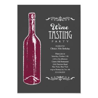 """Invitaciones de la degustación de vinos invitación 5"""" x 7"""""""