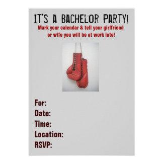 Invitaciones de la despedida de soltero de los gua