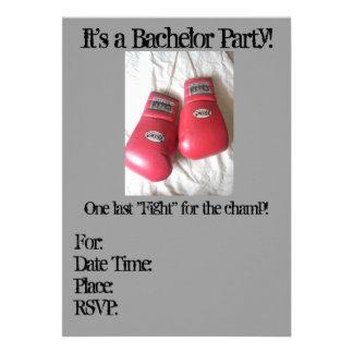Invitaciones de la despedida de soltero del guante