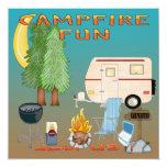 Invitaciones de la diversión que acampan invitación 13,3 cm x 13,3cm