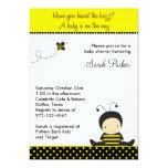 Invitaciones de la ducha de la abeja del bebé comunicados