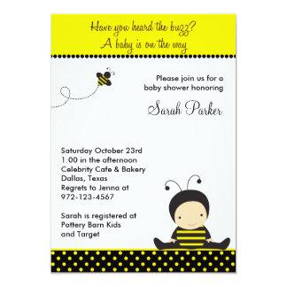Invitaciones de la ducha de la abeja del bebé invitación 12,7 x 17,8 cm