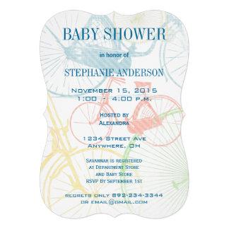 Invitaciones de la ducha del bebé de la bicicleta