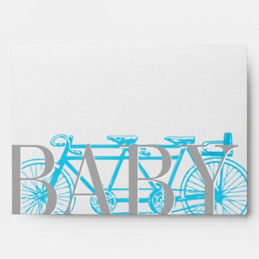 Invitaciones de la ducha del bebé de la bicicleta sobre