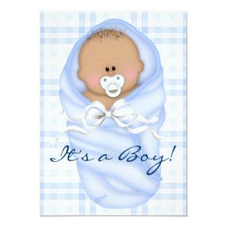 Invitaciones de la ducha del bebé de la guinga de invitaciones personalizada