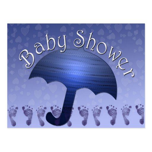 Invitaciones de la ducha del bebé postal