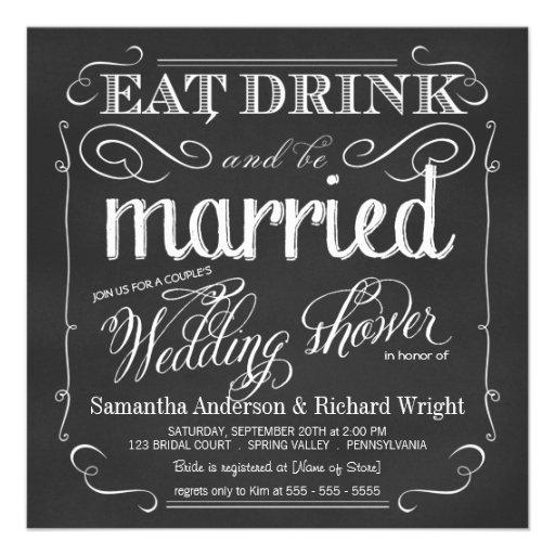 Invitaciones de la ducha del boda del par elegante invitacion personal