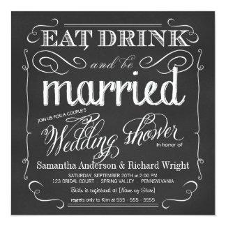 Invitaciones de la ducha del boda del par elegante invitación 13,3 cm x 13,3cm