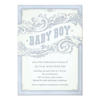 Invitaciones de la ducha del vaquero del bebé comunicados personales