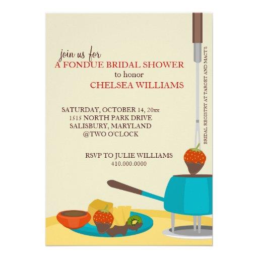 Invitaciones de la ducha o fiesta nupciales de la  anuncio personalizado