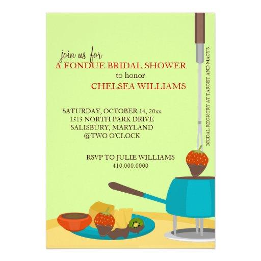 Invitaciones de la ducha o fiesta nupciales de la  comunicados personales