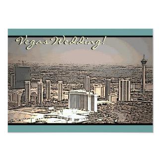 Invitaciones de la escena de la ciudad del vintage invitación 12,7 x 17,8 cm