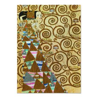 """Invitaciones de la expectativa de Gustavo Klimt Invitación 4.5"""" X 6.25"""""""
