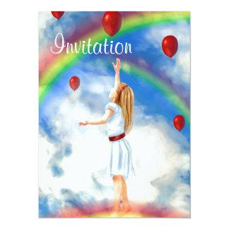 Invitaciones de la fantasía de la sirena invitación 13,9 x 19,0 cm