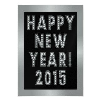 """Invitaciones de la Feliz Año Nuevo 2015 de la Invitación 5"""" X 7"""""""