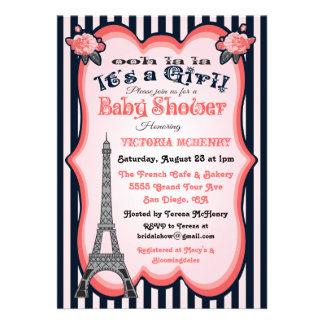 Invitaciones de la fiesta de bienvenida al bebé de invitación personalizada