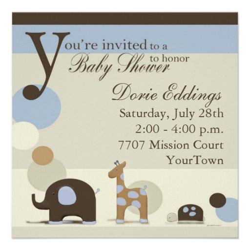 Invitaciones de la fiesta de bienvenida al bebé de anuncio