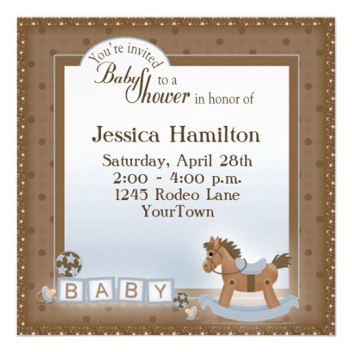 Invitaciones de la fiesta de bienvenida al bebé de comunicado