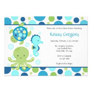 Invitaciones de la fiesta de bienvenida al bebé de comunicados personales