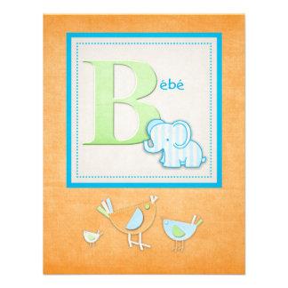 Invitaciones de la fiesta de bienvenida al bebé de invitacion personalizada