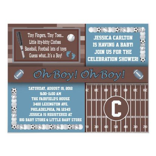 Invitaciones de la fiesta de bienvenida al bebé de invitación 10,8 x 13,9 cm