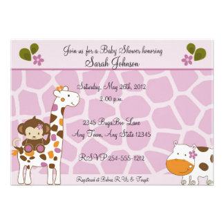 Invitaciones de la fiesta de bienvenida al bebé de comunicado personalizado