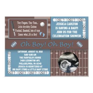 Invitaciones de la fiesta de bienvenida al bebé de comunicado personal