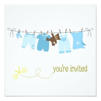 """Invitaciones de la fiesta de bienvenida al bebé de invitación 5.25"""" x 5.25"""""""