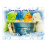 Invitaciones de la fiesta de bienvenida al bebé de tarjeta postal