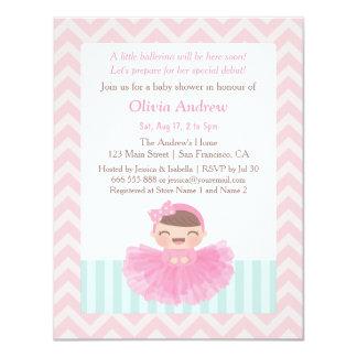 """Invitaciones de la fiesta de bienvenida al bebé invitación 4.25"""" x 5.5"""""""