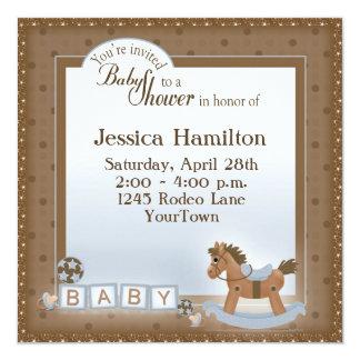 """Invitaciones de la fiesta de bienvenida al bebé invitación 5.25"""" x 5.25"""""""