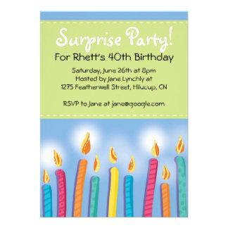 Invitaciones de la fiesta de cumpleaños