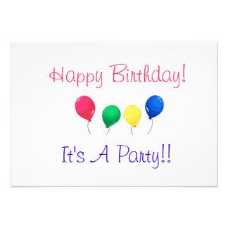 Invitaciones de la fiesta de cumpleaños comunicados personales