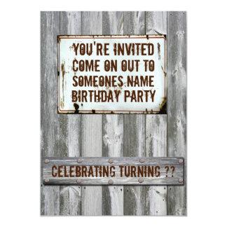 """Invitaciones de la fiesta de cumpleaños invitación 5"""" x 7"""""""