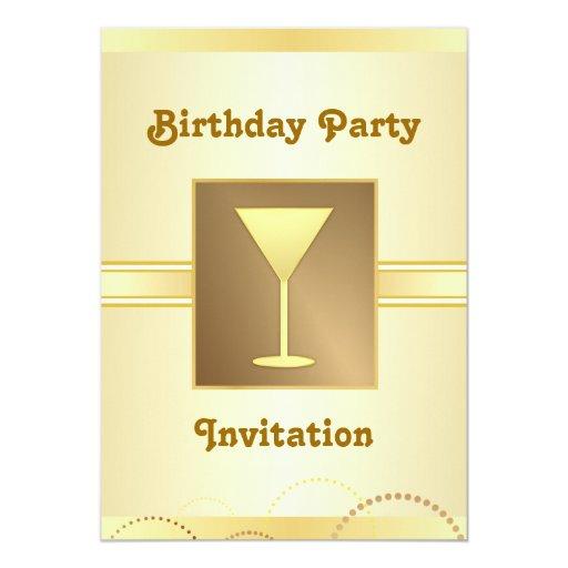 """Invitaciones de la fiesta de cumpleaños - Champán Invitación 5"""" X 7"""""""