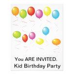 Invitaciones de la fiesta de cumpleaños de Ballnoo Invitacion Personalizada