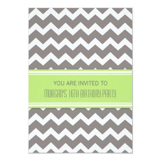 """Invitaciones de la fiesta de cumpleaños de Chevron Invitación 5"""" X 7"""""""